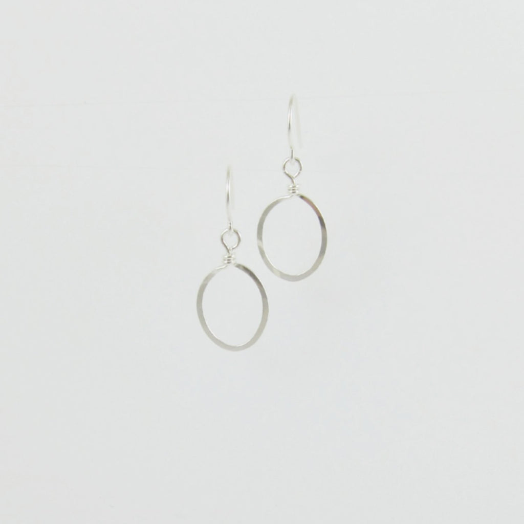 sterling silvers oval earrings