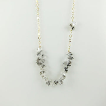 Large Herkimer Diamond Cluster Necklace