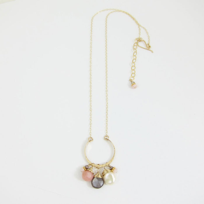 Neapolitan Pearl and Gemstone Necklace