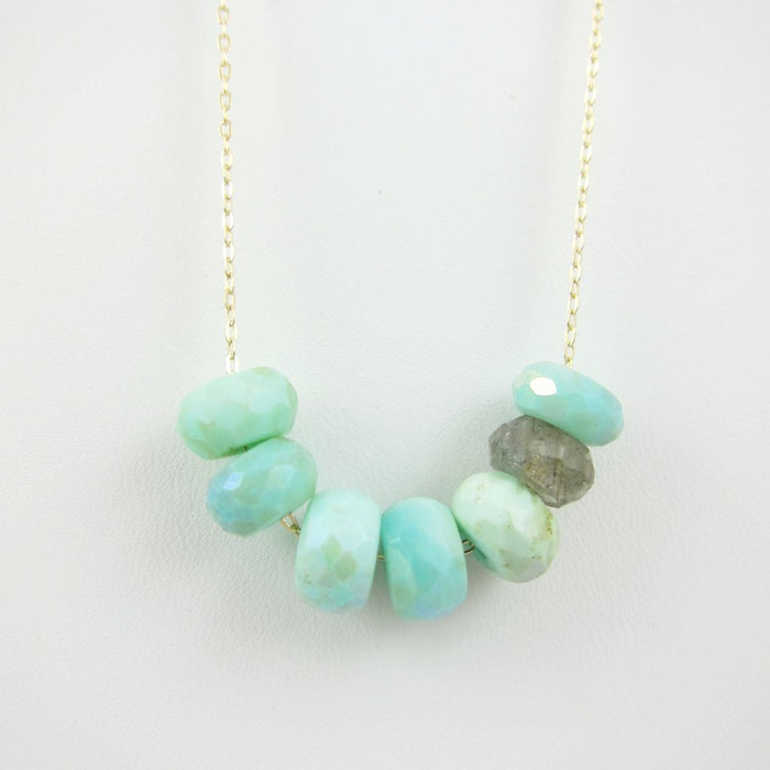 Peruvian Opal and Labradorite Necklace