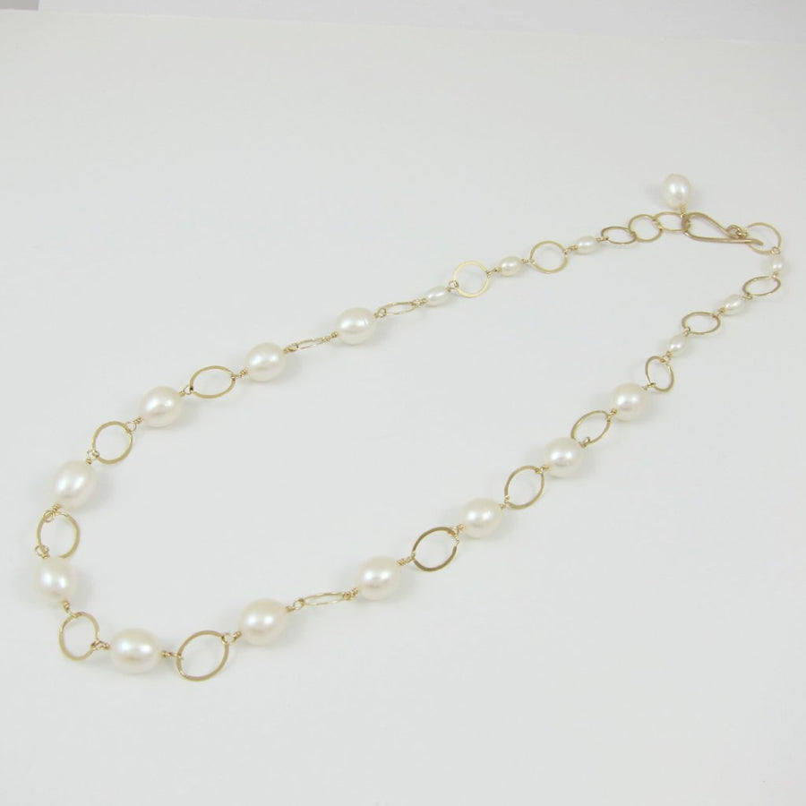 Large Rice Pearl Necklace