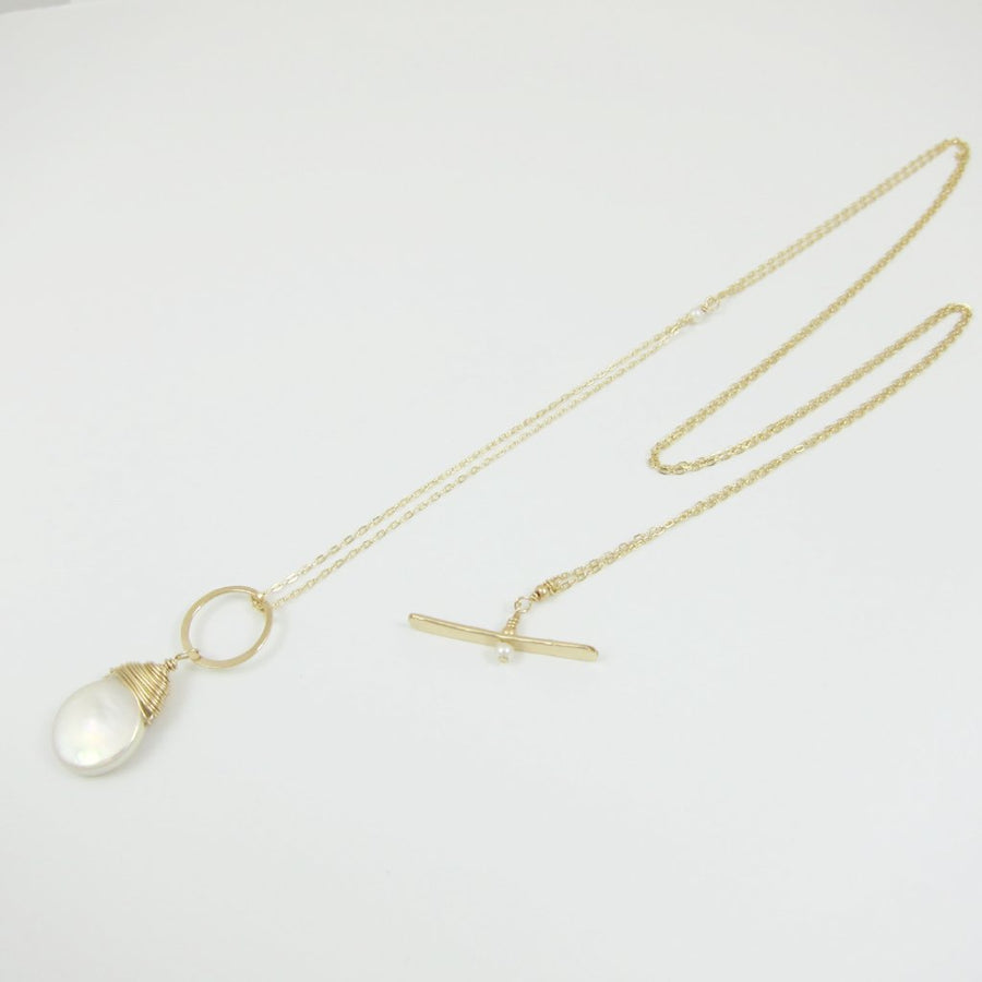 Keishi Pearl and Toggle Necklace