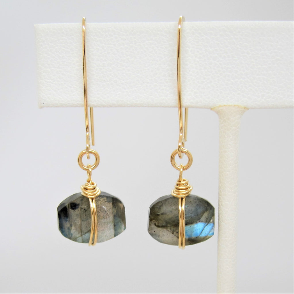 Faceted Labradorite Earrings