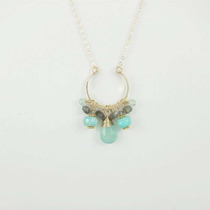 Peruvian Opal and Labradorite Gemstone Necklace