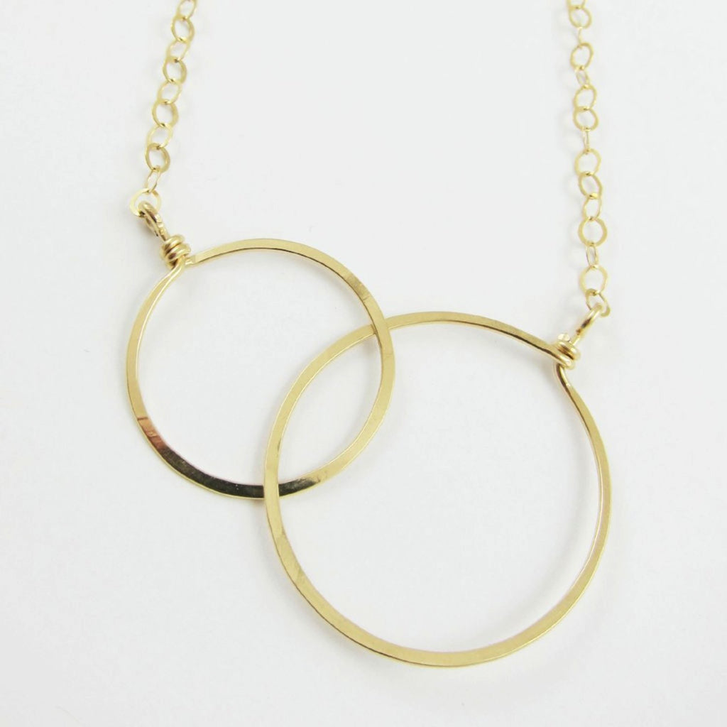 Double Circle Necklace Large