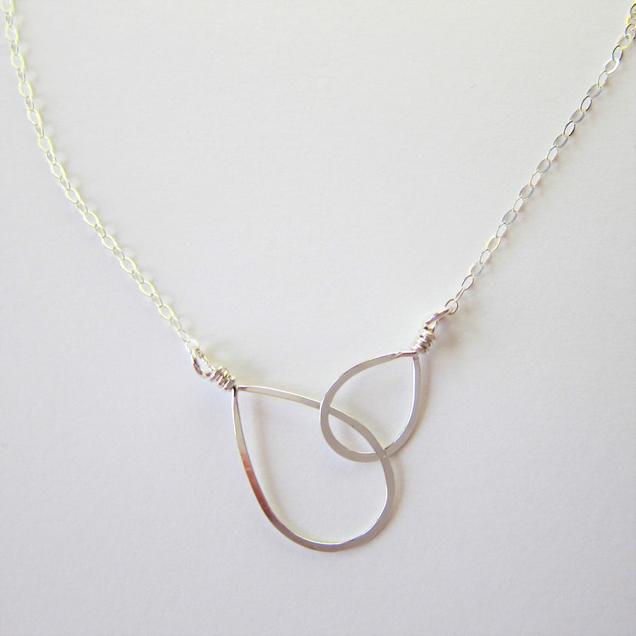 Forged Double Teardrop Necklace