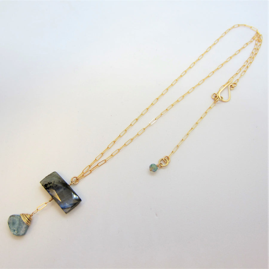 Labradorite and Mystic Apatite Necklace
