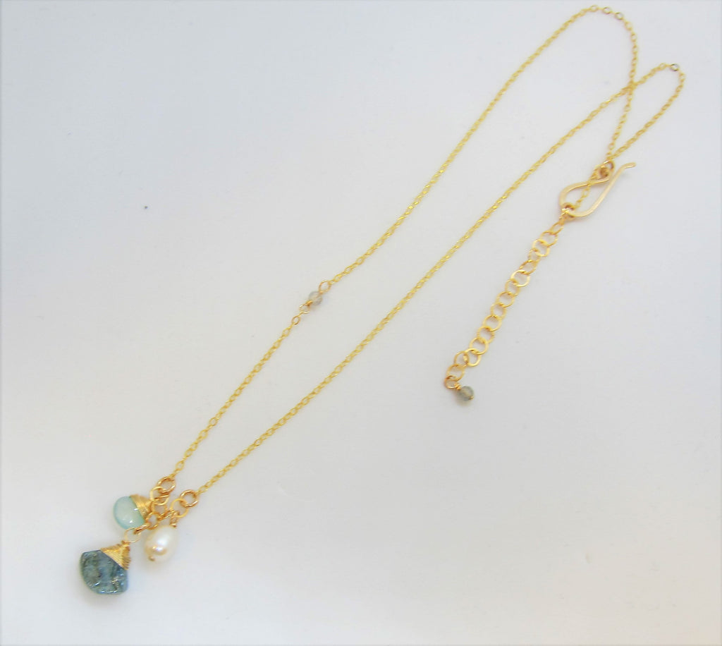 Mystic Apatite and Gemstone Necklace