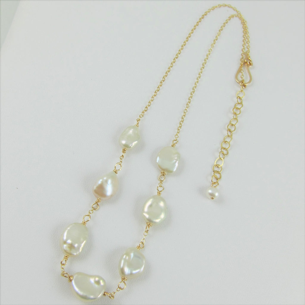 7 Drop Freshwater Pearl Necklace
