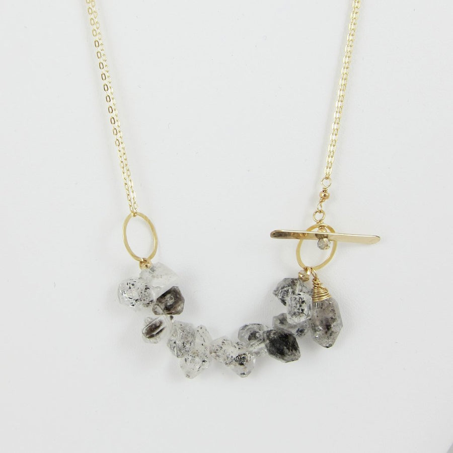 3 Way Herkimer Diamond Necklace