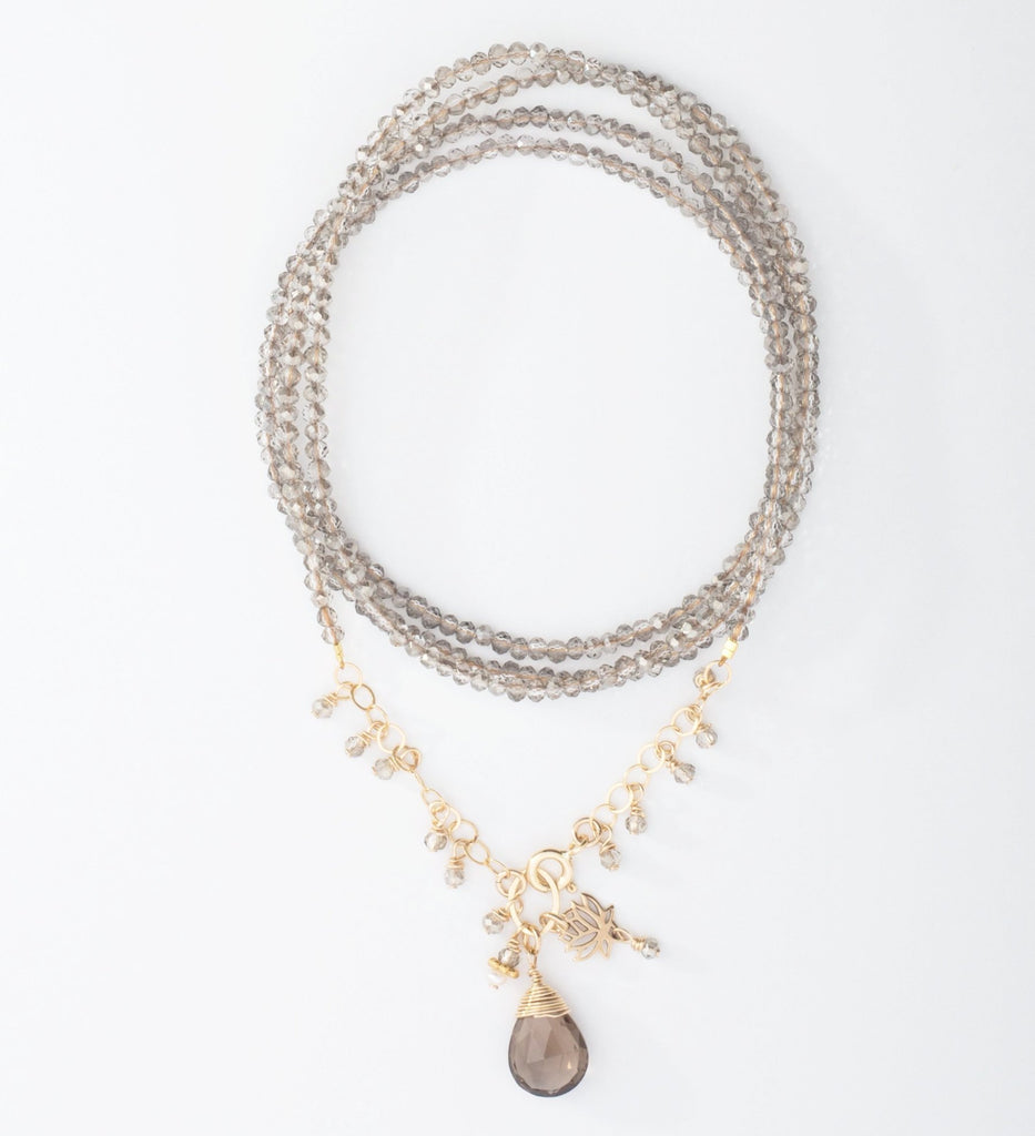 14k Gold-Filled Crystal Necklace/Wrap Bracelet