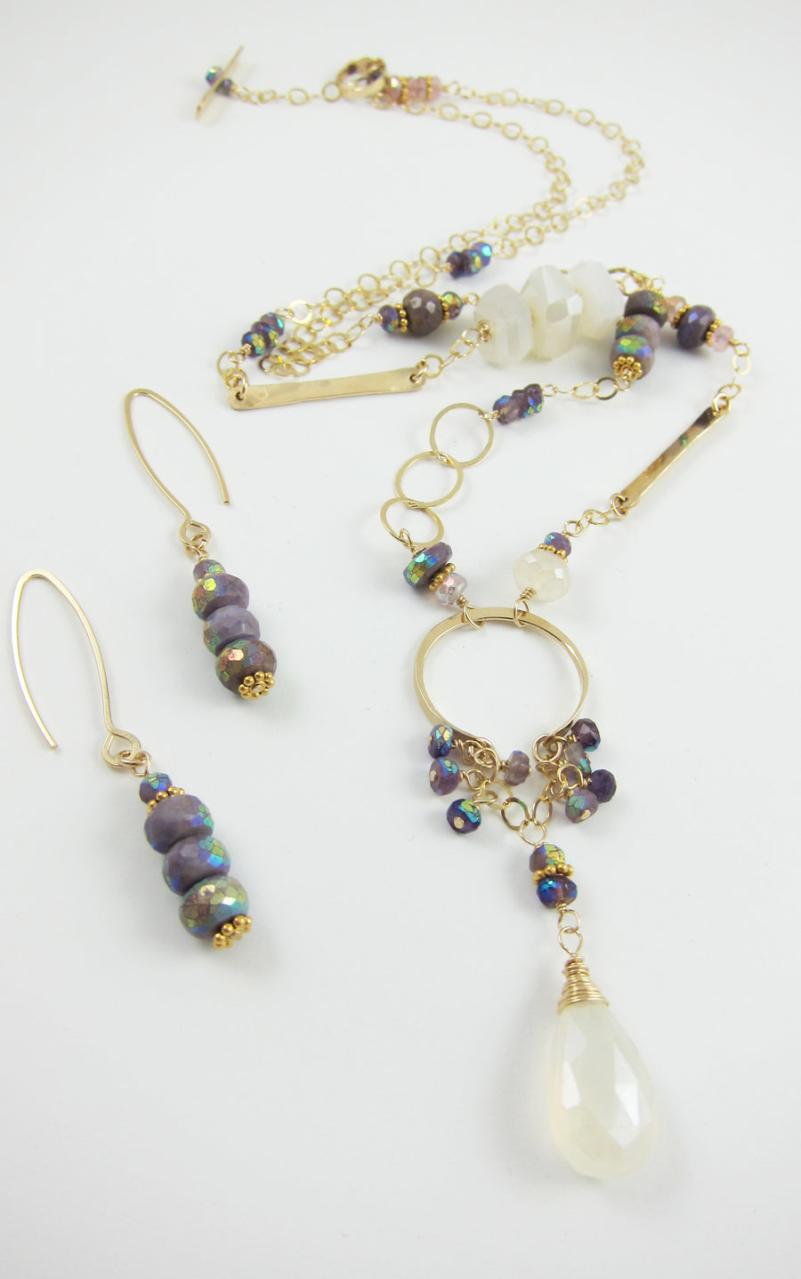 Aurora Borealis Sugilite Earrings