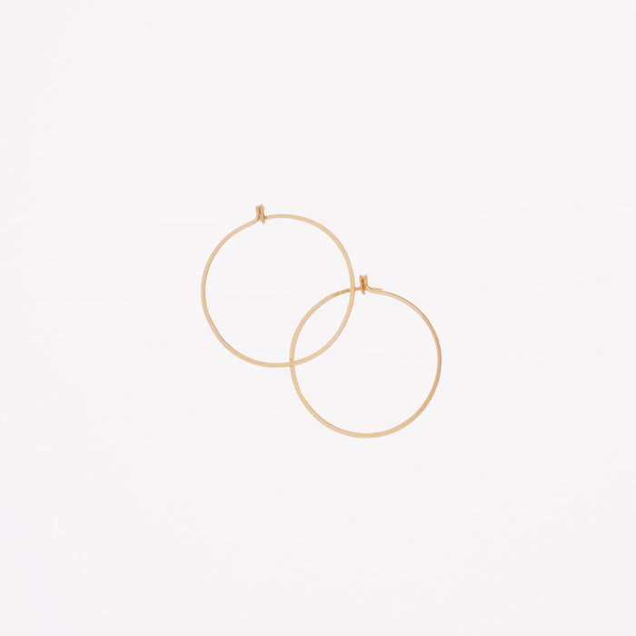 "Forged 1"" Round Hoop Earrings 14K Gold-filled"