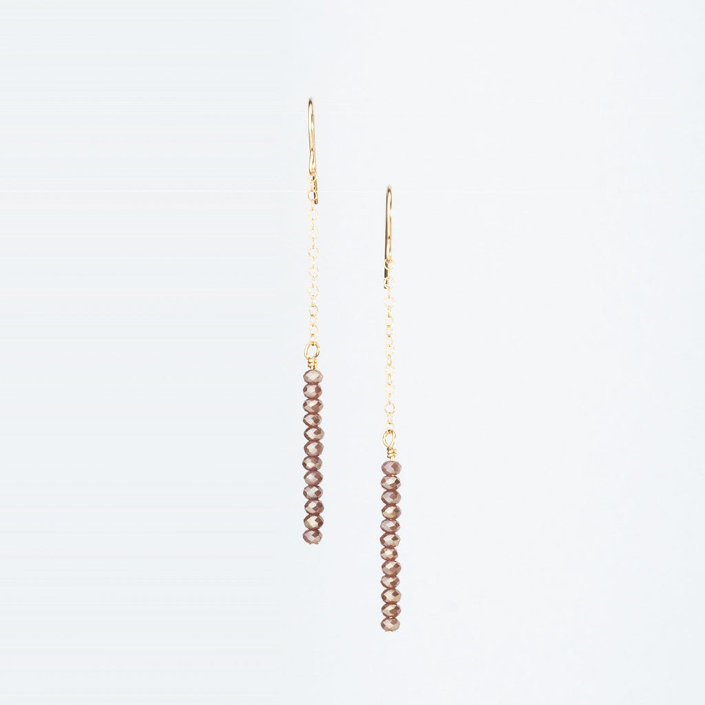 Mocha Crystal Stack Earrings