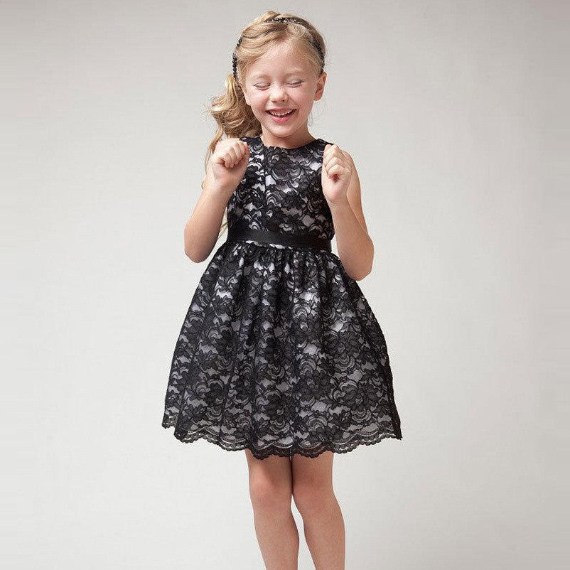 Toddler Girl Lace Dress Black
