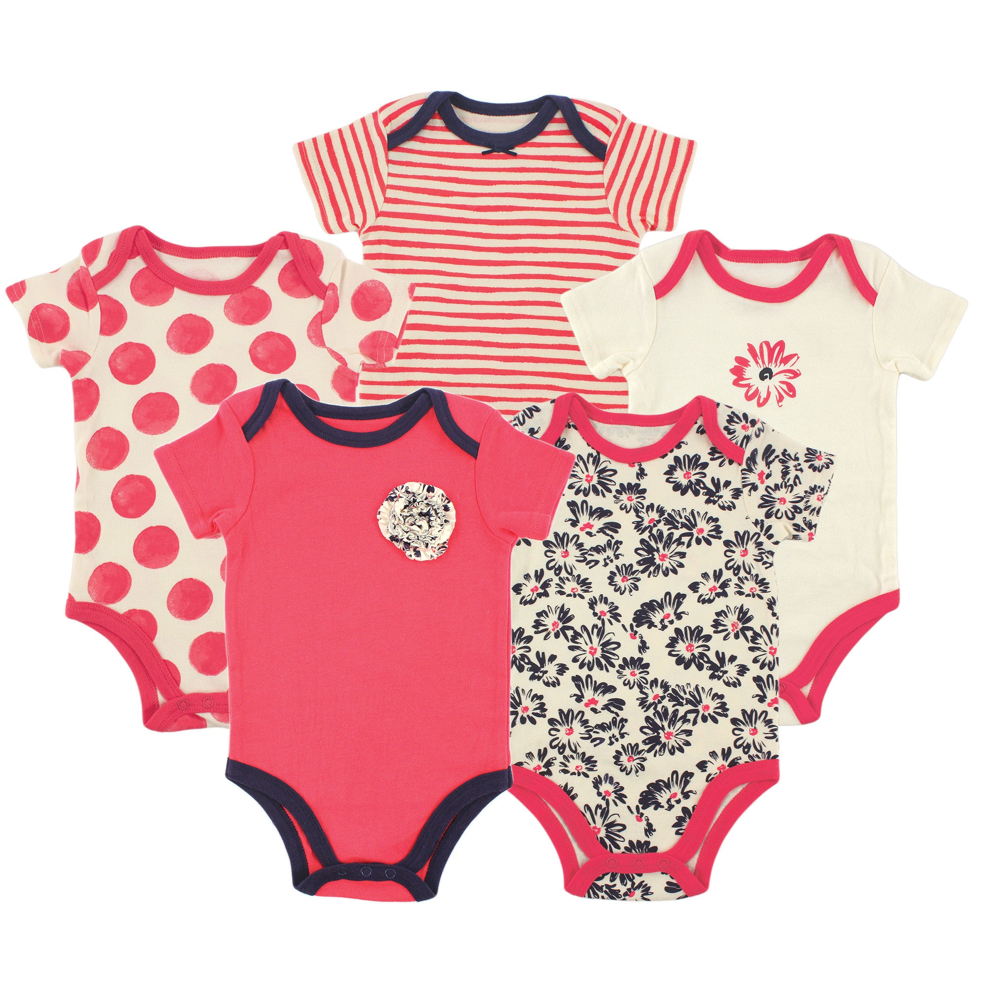 211b907e5 Baby Girl - Half sleeve - 5-Pack Bodysuit