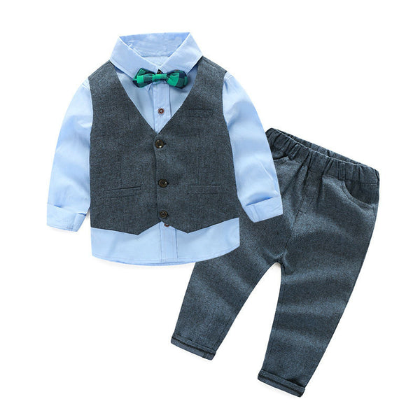 13b55e72 Boy - Party Wear - 4 Piece Suit Set - Blue
