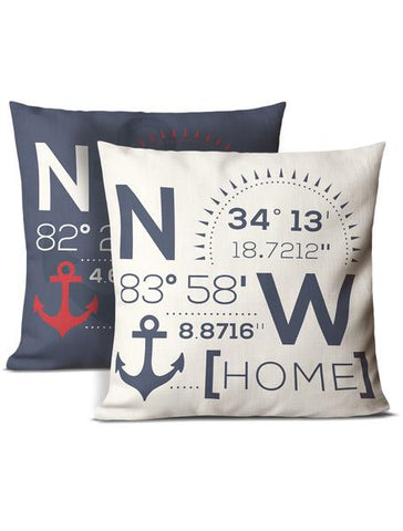 lake house pillows blue and white