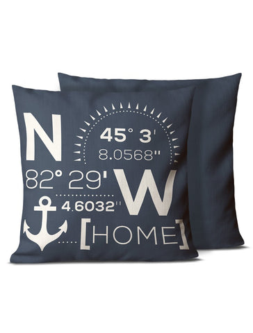lake house pillows navy blue