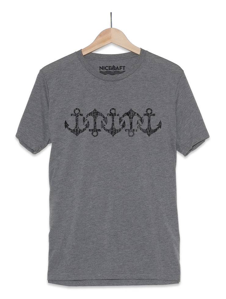 Vintage Anchor Pattern T-Shirt - Nice Aft
