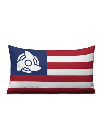 American Flag Prop Pillow