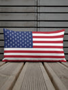 American Flag Anchors Pillow