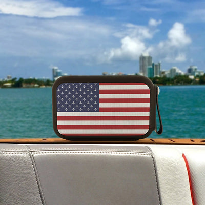 American Anchor Flag Wireless Bluetooth Water-Resistant Speaker - Nice Aft