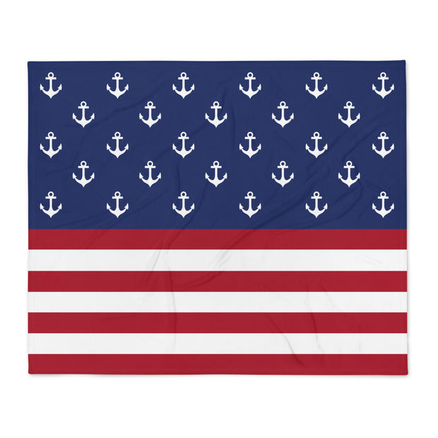American Flag Anchors Blanket