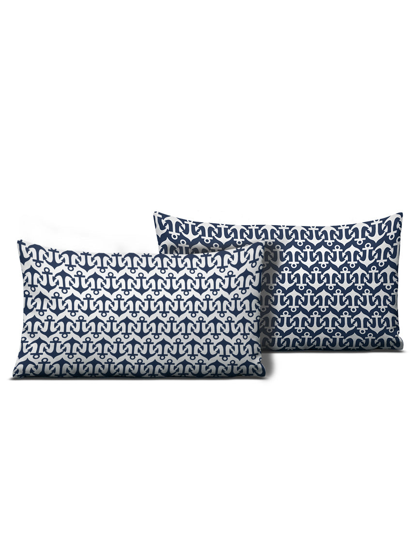 Anchor Pattern Nautical Pillow