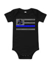 Blue Line Boat Baby Bodysuit | Support Law Enforcement