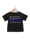 Blue Line Boat Baby T-Shirt | Support Law Enforcement