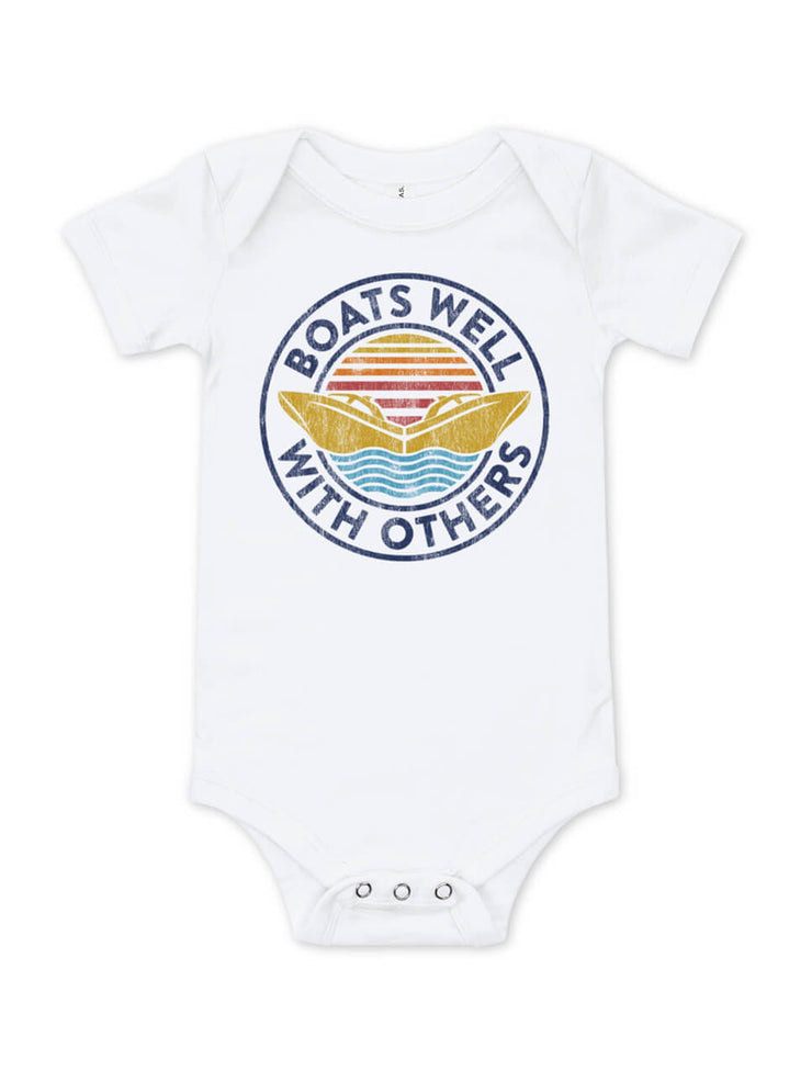 Boats Well With Others Baby Bodysuit