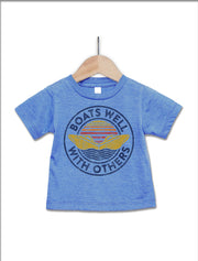 Boats Well With Others Baby T-Shirt - Nice Aft