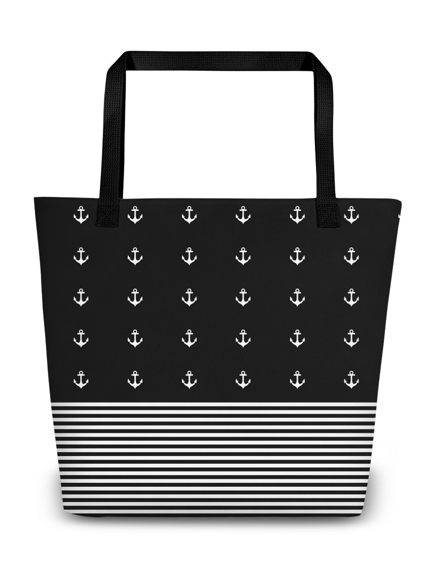 Anchors & Stripes Boating Tote Bag