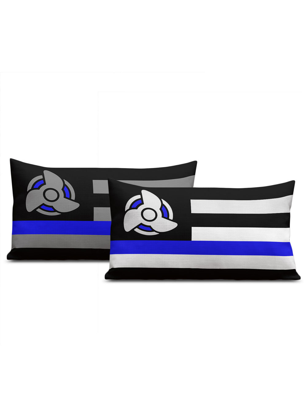 Blue Line Boat Pillow