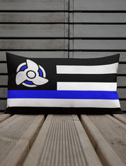 blue line pillow