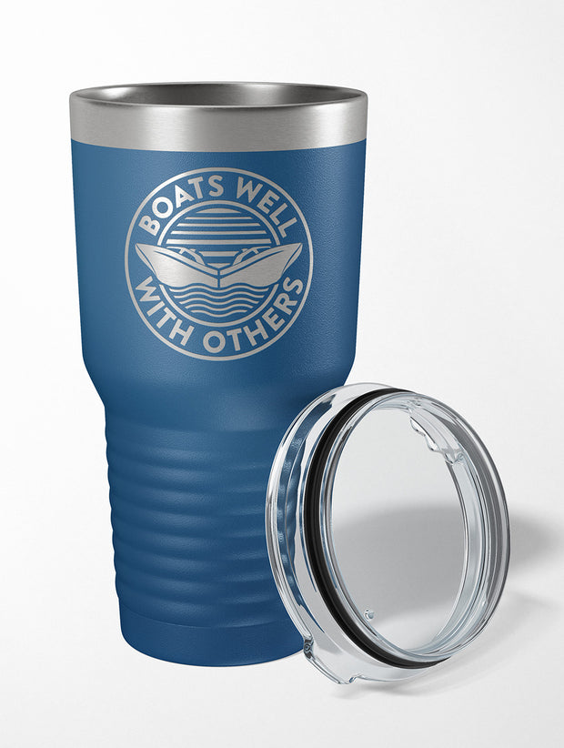 Boats Well With Others 30 OZ. Drink Tumbler - Nice Aft
