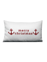 Merry Christmas Anchor Pillow - Nice Aft