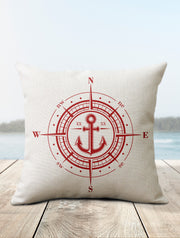Compass Pillow | Coastal Decor - Nice Aft