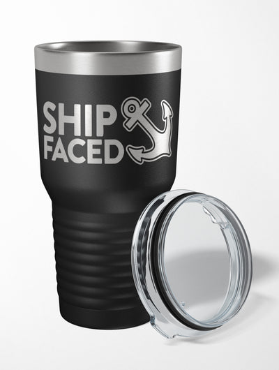 Ship Faced 30 oz. Drink Tumbler
