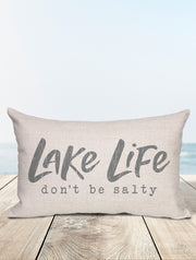 Lake Life | Don't Be Salty Lumbar Pillow - Nice Aft