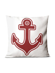 Red & White Anchor Pillow