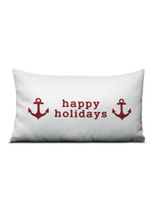 Happy Holidays Anchor Pillow - Nice Aft