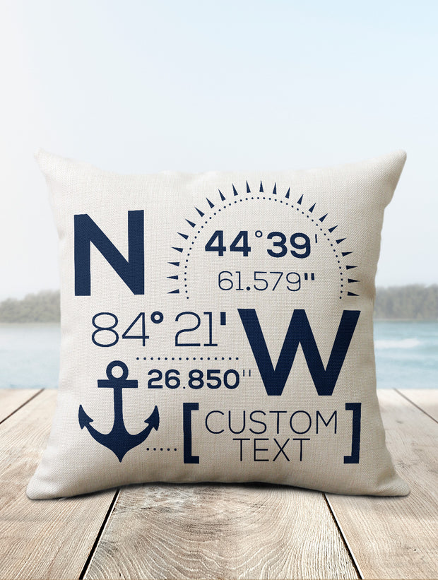 Custom Coordinate Pillows