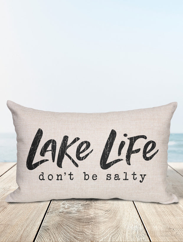 Lake Life | Don't Be Salty Lumbar Pillow