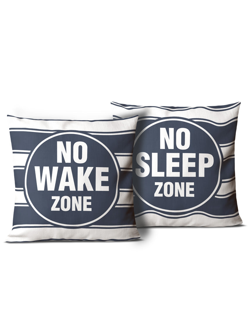 No Wake Zone & No Sleep Zone Pillows
