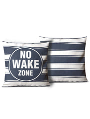 No Wake Zone & No Sleep Zone Pillows - Nice Aft
