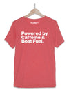Boat Shirt | Powered by Caffeine & Boat Fuel T-Shirt