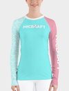 UV Rash Guard Shirt 2019 | Women's Teal Waves Rash Guard