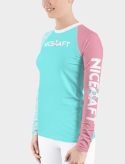 UV Rash Guard Shirt | Women's Teal Waves Rash Guard